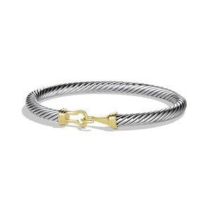 David Yurman cable bucket bracelet with gold